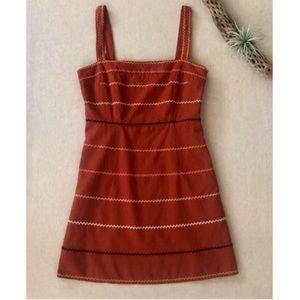 F21 Linen Blend Southwestern Mini Dress sz M
